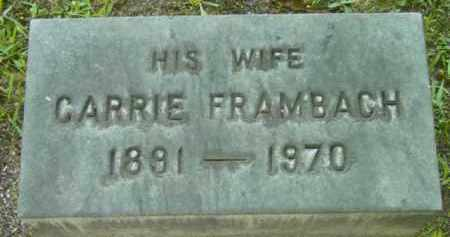 FRAMBACH, CARRIE - Berkshire County, Massachusetts | CARRIE FRAMBACH - Massachusetts Gravestone Photos