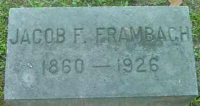 FRAMBACH, JACOB F - Berkshire County, Massachusetts | JACOB F FRAMBACH - Massachusetts Gravestone Photos