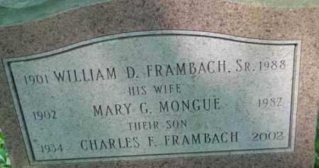 FRAMBACH, MARY G - Berkshire County, Massachusetts | MARY G FRAMBACH - Massachusetts Gravestone Photos