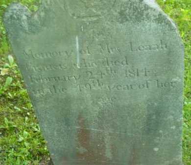 FRANCIS, LEAAH - Berkshire County, Massachusetts | LEAAH FRANCIS - Massachusetts Gravestone Photos
