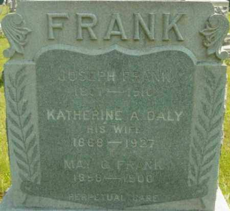 DALY FRANK, KATHERINE A - Berkshire County, Massachusetts | KATHERINE A DALY FRANK - Massachusetts Gravestone Photos