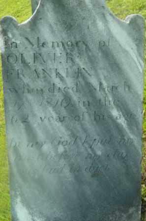 FRANKLIN, OLIVER - Berkshire County, Massachusetts | OLIVER FRANKLIN - Massachusetts Gravestone Photos