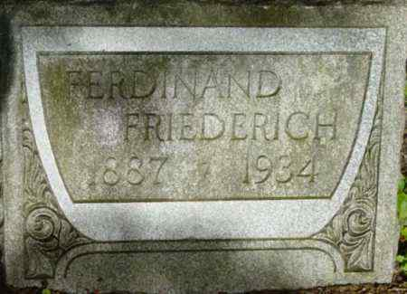 FRIEDERICH, FERDINAND - Berkshire County, Massachusetts | FERDINAND FRIEDERICH - Massachusetts Gravestone Photos