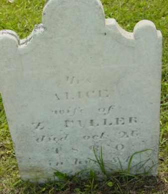 FULLER, ALICE - Berkshire County, Massachusetts | ALICE FULLER - Massachusetts Gravestone Photos