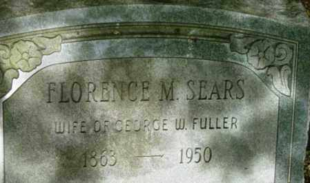 SEARS, FLORENCE M - Berkshire County, Massachusetts | FLORENCE M SEARS - Massachusetts Gravestone Photos