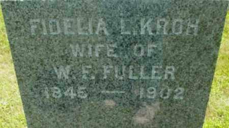 FULLER, FIDELIA L - Berkshire County, Massachusetts | FIDELIA L FULLER - Massachusetts Gravestone Photos