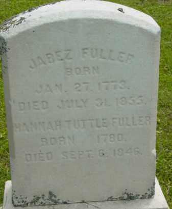FULLER, JABEZ - Berkshire County, Massachusetts | JABEZ FULLER - Massachusetts Gravestone Photos