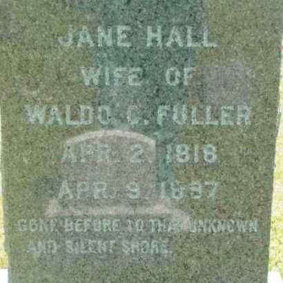 FULLER, JANE - Berkshire County, Massachusetts | JANE FULLER - Massachusetts Gravestone Photos