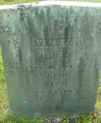 FULLER, VIVAS F - Berkshire County, Massachusetts | VIVAS F FULLER - Massachusetts Gravestone Photos