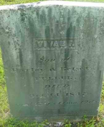 FULLER, VIVAS F - Berkshire County, Massachusetts   VIVAS F FULLER - Massachusetts Gravestone Photos