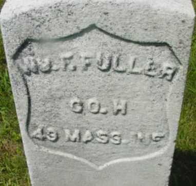 FULLER, WILLIAM F - Berkshire County, Massachusetts | WILLIAM F FULLER - Massachusetts Gravestone Photos