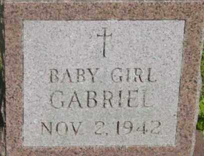 GABRIEL, BABY GIRL - Berkshire County, Massachusetts   BABY GIRL GABRIEL - Massachusetts Gravestone Photos
