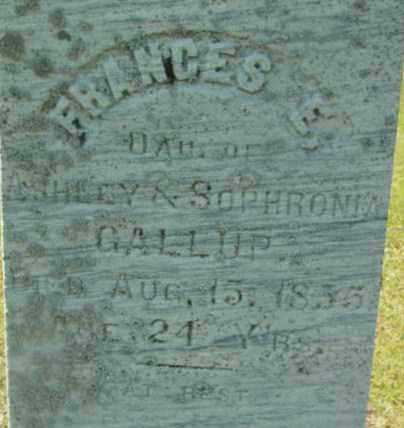 GALLUP, FRANCES E - Berkshire County, Massachusetts | FRANCES E GALLUP - Massachusetts Gravestone Photos