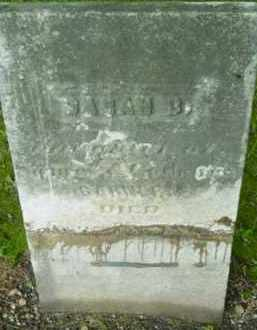 GARNER, SARAH B - Berkshire County, Massachusetts | SARAH B GARNER - Massachusetts Gravestone Photos