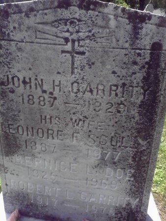 DOE GARRITY, BERNICE L - Berkshire County, Massachusetts   BERNICE L DOE GARRITY - Massachusetts Gravestone Photos