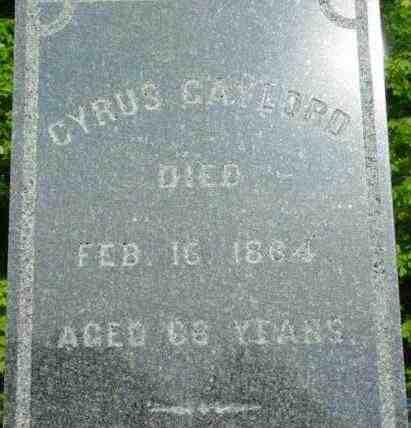 GAYLORD, CYRUS - Berkshire County, Massachusetts | CYRUS GAYLORD - Massachusetts Gravestone Photos