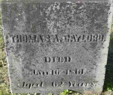 GAYLORD, THOMAS A - Berkshire County, Massachusetts | THOMAS A GAYLORD - Massachusetts Gravestone Photos