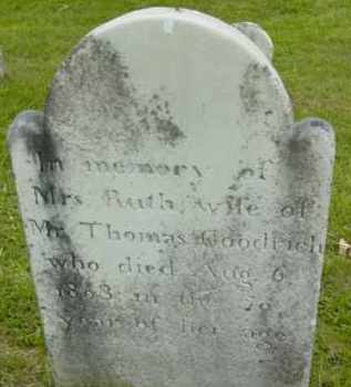 GOODRICH, RUTH - Berkshire County, Massachusetts   RUTH GOODRICH - Massachusetts Gravestone Photos