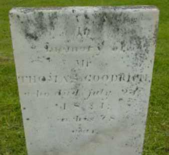 GOODRICH, THOMAS - Berkshire County, Massachusetts | THOMAS GOODRICH - Massachusetts Gravestone Photos