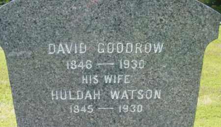 GOODROW, DAVID - Berkshire County, Massachusetts | DAVID GOODROW - Massachusetts Gravestone Photos