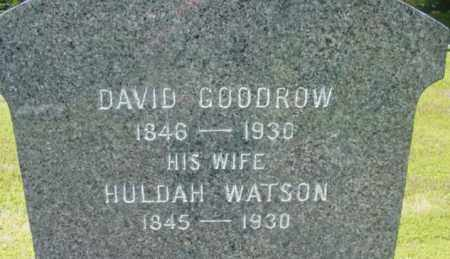 GOODROW, HULDAH - Berkshire County, Massachusetts | HULDAH GOODROW - Massachusetts Gravestone Photos