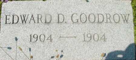 GOODROW, EDWARD D - Berkshire County, Massachusetts | EDWARD D GOODROW - Massachusetts Gravestone Photos