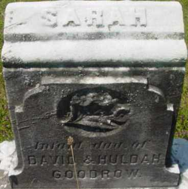 GOODROW, SARAH - Berkshire County, Massachusetts | SARAH GOODROW - Massachusetts Gravestone Photos