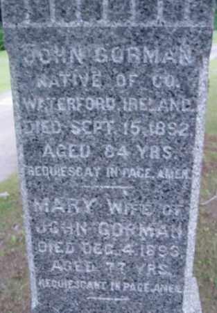 GORMAN, JOHN - Berkshire County, Massachusetts | JOHN GORMAN - Massachusetts Gravestone Photos