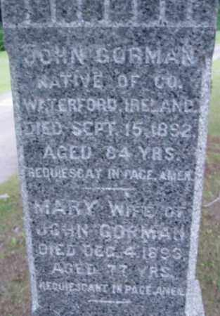 GORMAN, MARY - Berkshire County, Massachusetts | MARY GORMAN - Massachusetts Gravestone Photos