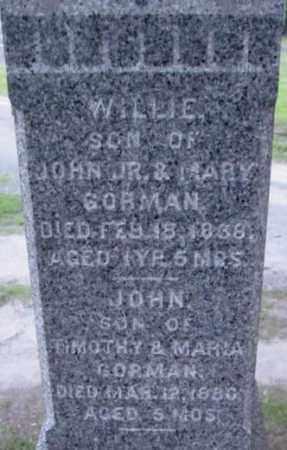 GORMAN, WILLIE - Berkshire County, Massachusetts | WILLIE GORMAN - Massachusetts Gravestone Photos