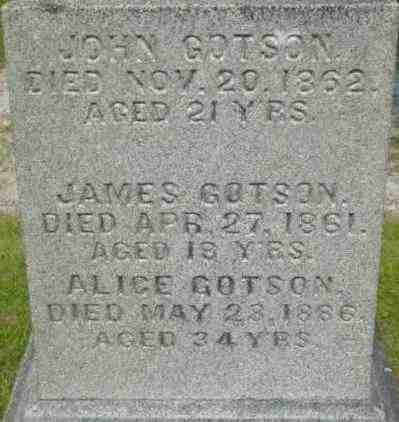 GOTSON, ALICE - Berkshire County, Massachusetts   ALICE GOTSON - Massachusetts Gravestone Photos