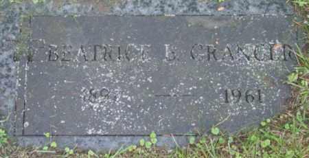GRANGER, BEATRICE B - Berkshire County, Massachusetts | BEATRICE B GRANGER - Massachusetts Gravestone Photos