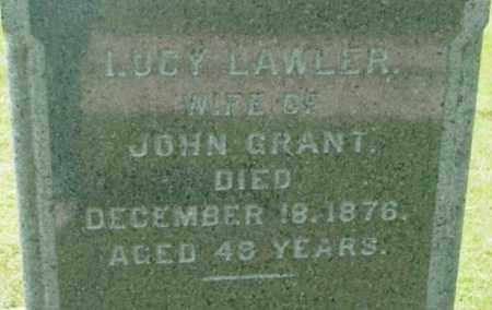 LAWLER GRANT, LUCY - Berkshire County, Massachusetts | LUCY LAWLER GRANT - Massachusetts Gravestone Photos