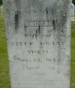 GRANT, LAURA - Berkshire County, Massachusetts | LAURA GRANT - Massachusetts Gravestone Photos