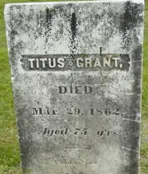 GRANT, TITUS - Berkshire County, Massachusetts | TITUS GRANT - Massachusetts Gravestone Photos