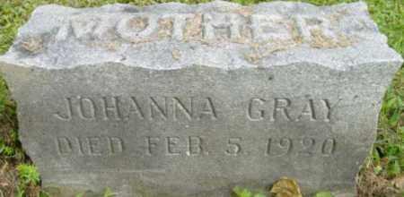 GRAY, JOHANNA - Berkshire County, Massachusetts   JOHANNA GRAY - Massachusetts Gravestone Photos