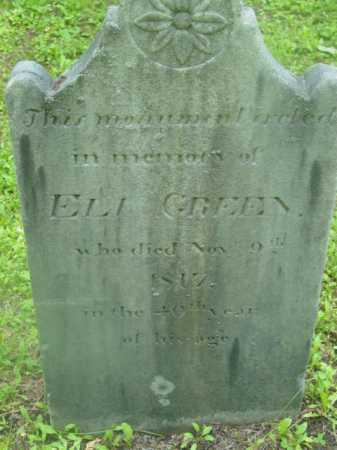GREEN, ELI - Berkshire County, Massachusetts | ELI GREEN - Massachusetts Gravestone Photos