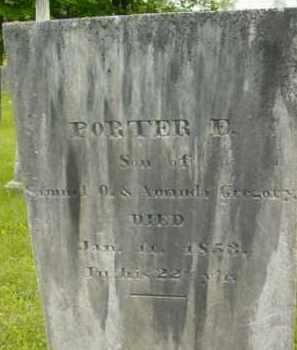 GREGORY, PORTER E - Berkshire County, Massachusetts | PORTER E GREGORY - Massachusetts Gravestone Photos