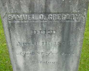 GREGORY, SAMUEL O - Berkshire County, Massachusetts   SAMUEL O GREGORY - Massachusetts Gravestone Photos