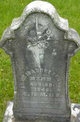 GRISWOLD, ANNIE ISADORE - Berkshire County, Massachusetts | ANNIE ISADORE GRISWOLD - Massachusetts Gravestone Photos