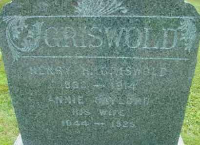 GRISWOLD, ANNIE - Berkshire County, Massachusetts | ANNIE GRISWOLD - Massachusetts Gravestone Photos
