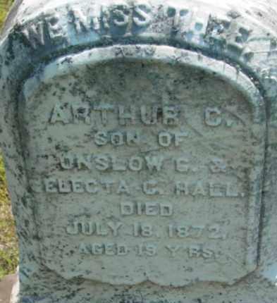 HALL, ARTHUR C - Berkshire County, Massachusetts | ARTHUR C HALL - Massachusetts Gravestone Photos