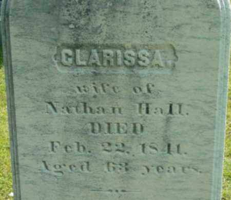 HALL, CLARISSA - Berkshire County, Massachusetts   CLARISSA HALL - Massachusetts Gravestone Photos