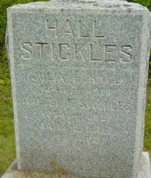 HALL STICKLES, MARY E - Berkshire County, Massachusetts | MARY E HALL STICKLES - Massachusetts Gravestone Photos