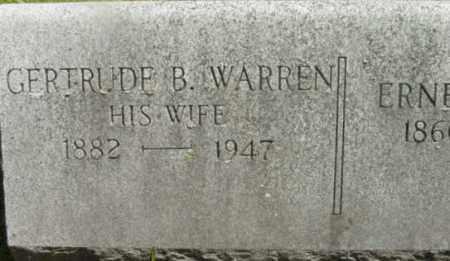 WARREN, GERTRUDE B - Berkshire County, Massachusetts | GERTRUDE B WARREN - Massachusetts Gravestone Photos
