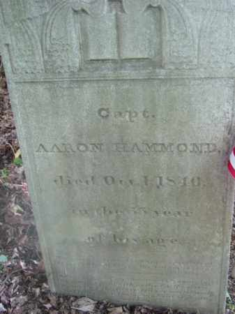 HAMMOND (1812), AARON - Berkshire County, Massachusetts | AARON HAMMOND (1812) - Massachusetts Gravestone Photos