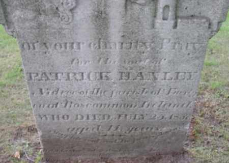 HANLEY, PATRICK - Berkshire County, Massachusetts | PATRICK HANLEY - Massachusetts Gravestone Photos