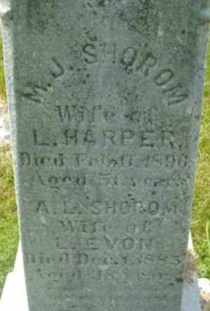 HARPER, M J - Berkshire County, Massachusetts | M J HARPER - Massachusetts Gravestone Photos