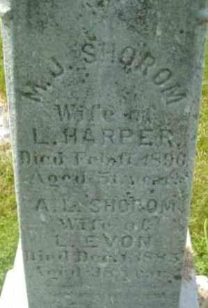 SHOROM, A L - Berkshire County, Massachusetts | A L SHOROM - Massachusetts Gravestone Photos