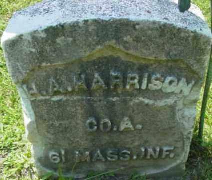 HARRISON, H A - Berkshire County, Massachusetts   H A HARRISON - Massachusetts Gravestone Photos
